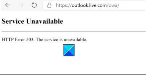 HTTP Error 503, The service is unavailable