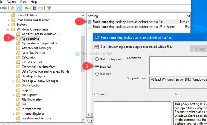 How to prevent launching apps associated with file or URI scheme