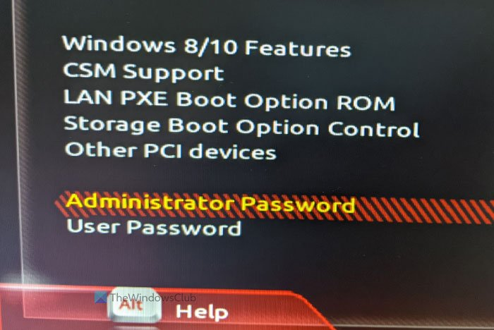 How to set and use BIOS password on Windows computer