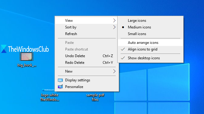 Can't move desktop icons in Windows 10