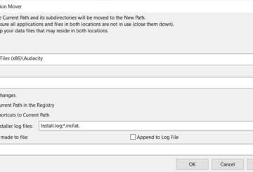 Application Mover relocates installed programs from one path to another on your hard disk