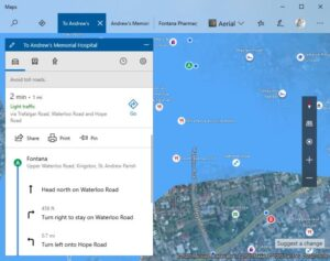 use Turn-by-Turn navigation features in Bing Maps