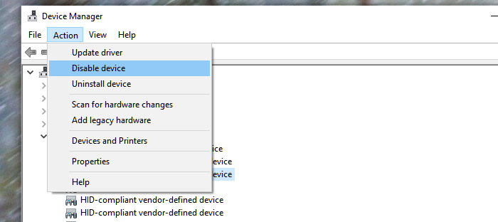 Disable Touch Pen Microsoft Surface