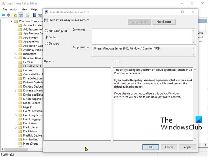 Disable the Programmable Taskbar feature-Group Policy Editor