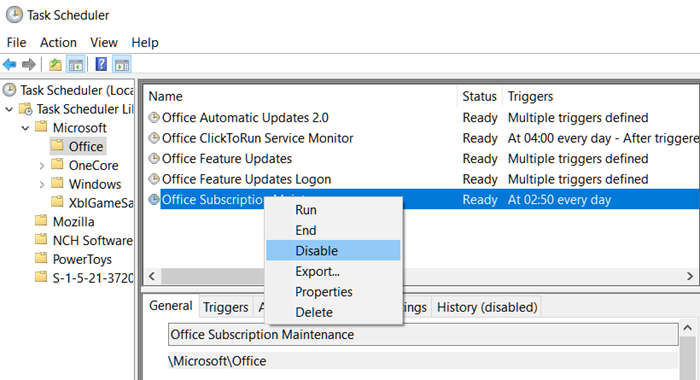 Office Subscription Task Scheduler