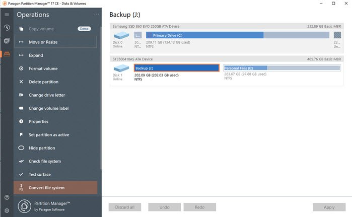 Disk Resize & Partitioning Software for Windows 10