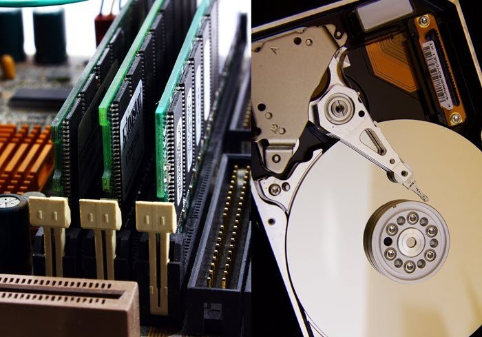 What is the difference between RAM memory and Hard Drive?