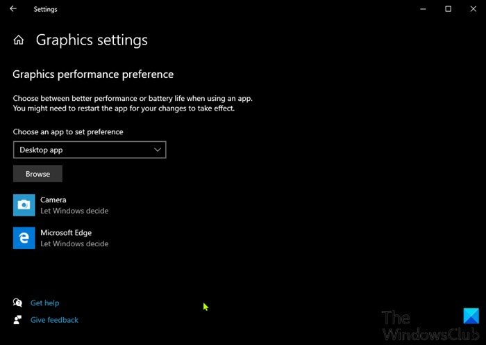 Reset GPU Preferences for Apps