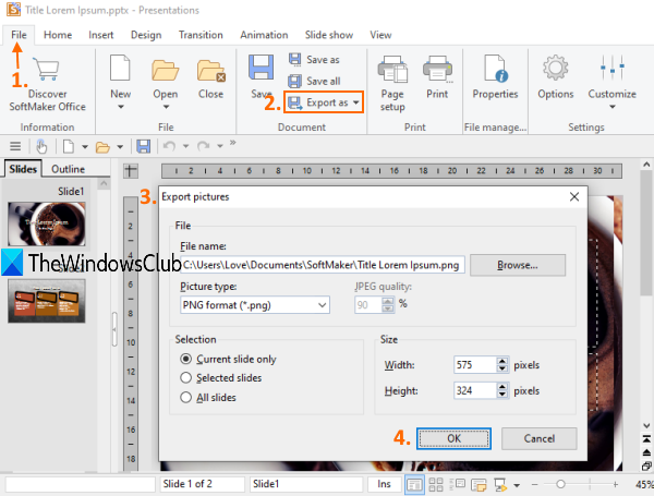Convert PowerPoint to Image