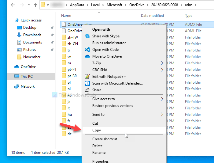 How to add OneDrive sync settings in Local Group Policy Editor