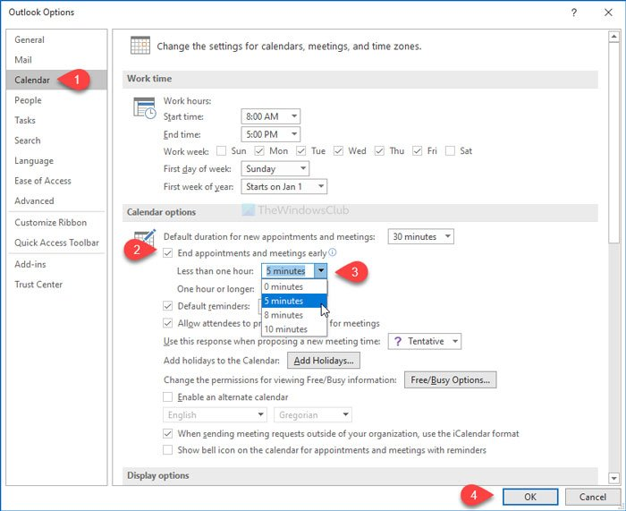 How to automatically end meetings early in Microsoft Outlook