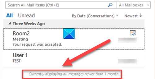 Only some emails are synchronized in Outlook