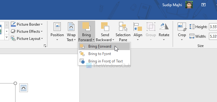 How to overlay multiple pictures in Word document