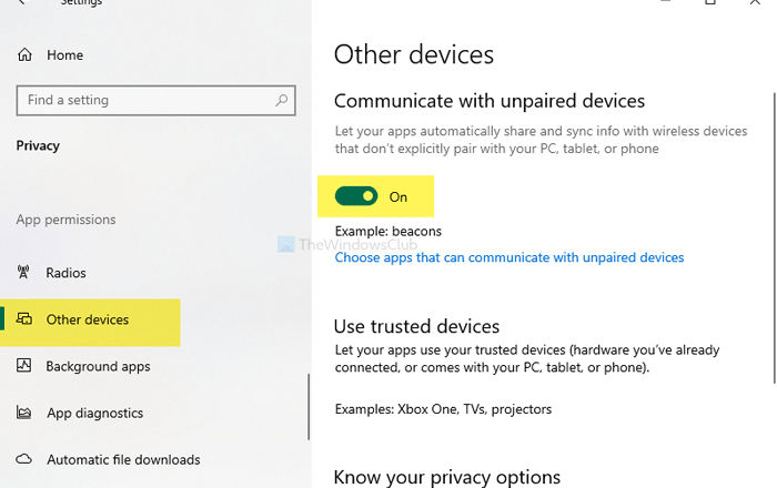 How to prevent apps from communicating with unpaired devices