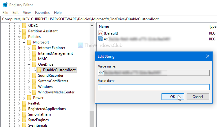 How to prevent users from changing the OneDrive folder location