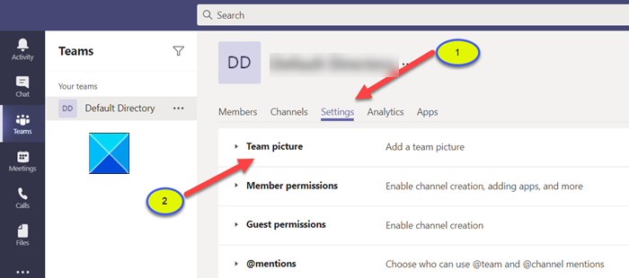 How to change the Team Picture in Microsoft Teams