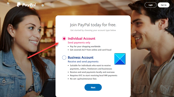 Type of PayPal Account