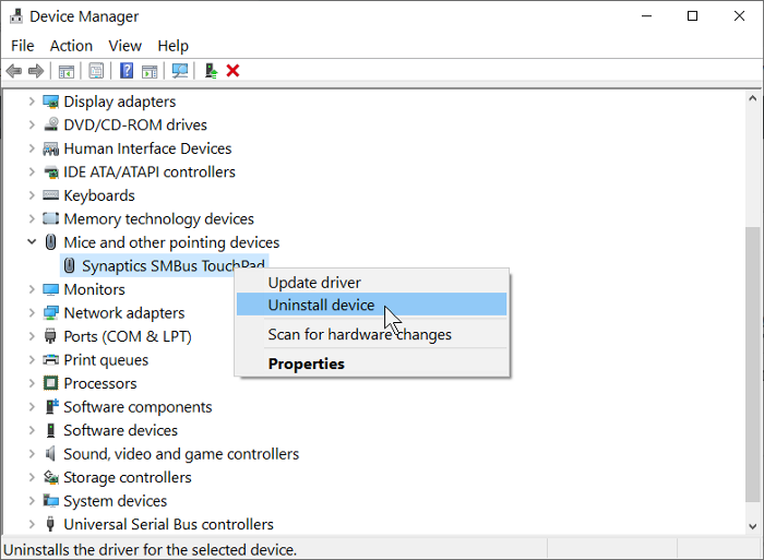 Unable to install Touchpad drivers