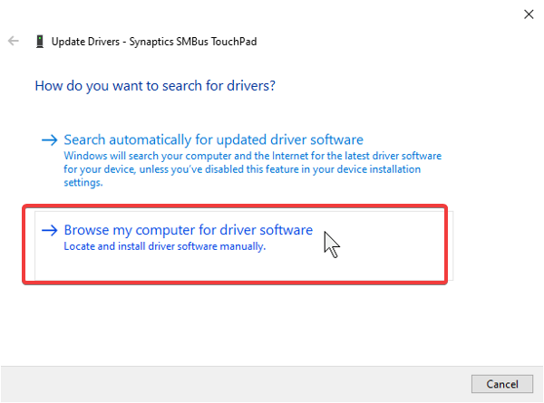 update driver from system file