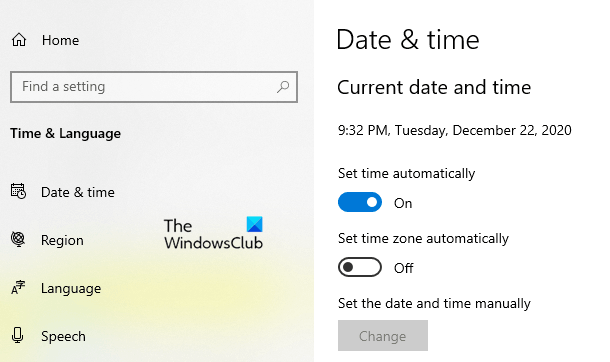 Adjust for Daylight Saving Time in Windows 10