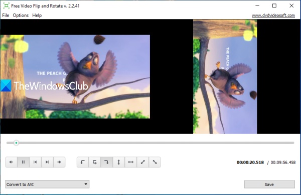 Free Video Flip and Rotate software