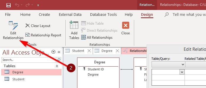 How to Create, Edit and Delete a Table Relationship in Microsoft Access