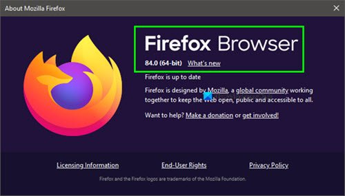 How to check Firefox browser version