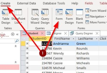 How to create a Form in Microsoft Access