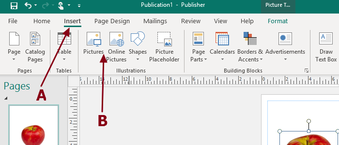 Add, Move and Modify Pictures in Microsoft Publisher