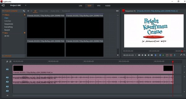 Lightworks is a high precision video trimming software for Windows 10