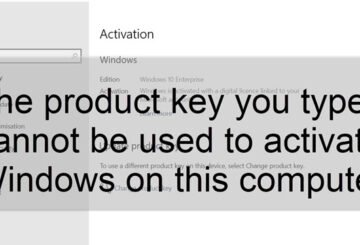 Product Key Cannot be used