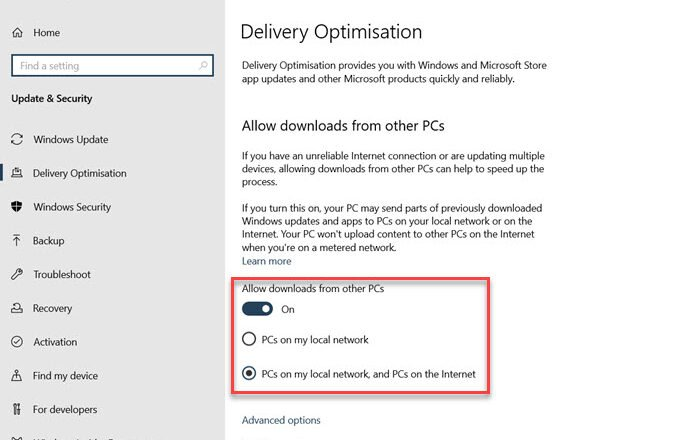 Download Windows Updates & Apps from other Windows 10 PCs