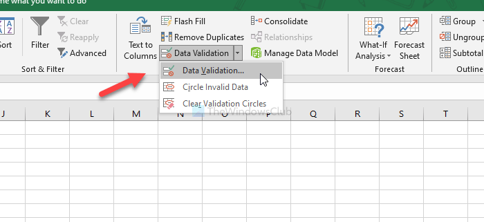 How to add a character limit in an Excel and Google Sheets