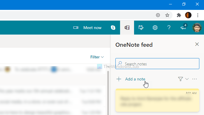How to add notes and create tasks from Outlook web