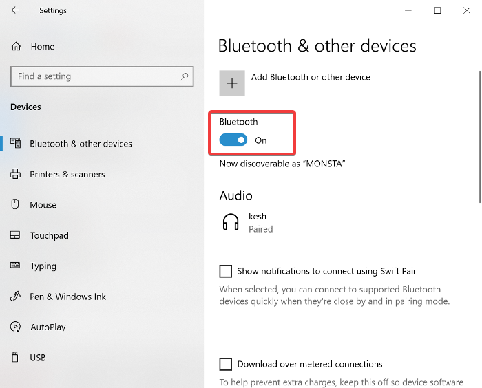 bluetooth driver available