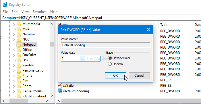 How to change the default Character Encoding in Notepad