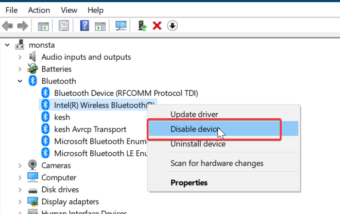 Install the Bluetooth driver manually