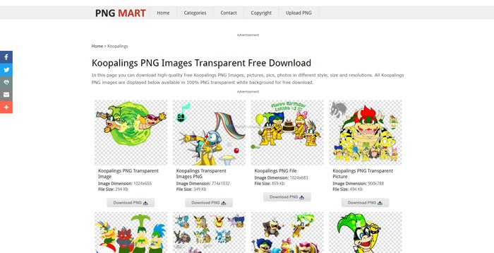 Where to download PNG images with transparent background