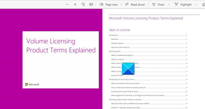 Enable Two-Page Layout for PDFs in Edge browser