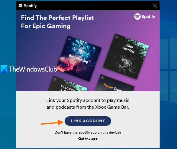 link your Spotify account