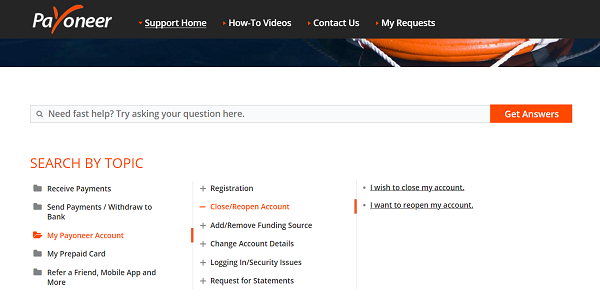 How to close your Payoneer Account?