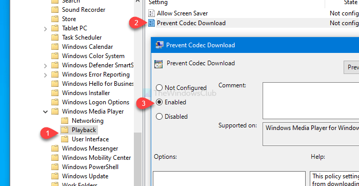 How to prevent Windows Media Player from downloading codecs automatically