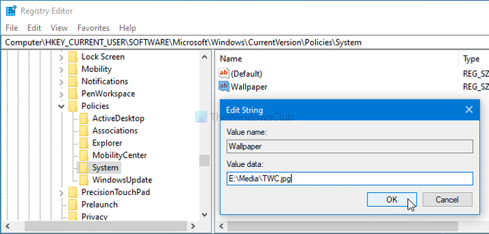 How to set desktop wallpaper using Group Policy and Registry Editor