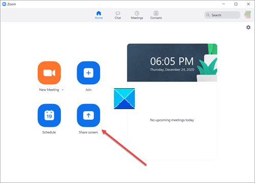 Optimize Screen Share for a Video Clip in full screen in Zoom