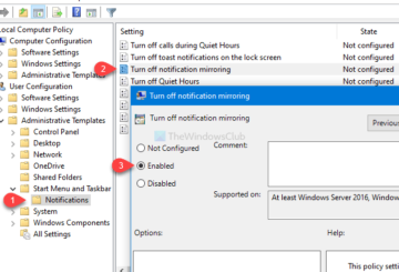 How to turn off notification mirroring in Windows 10