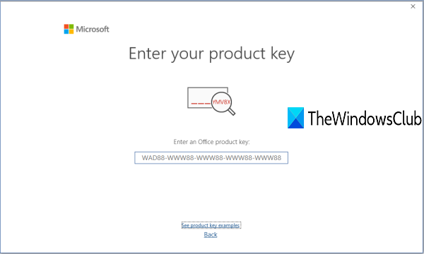 uninstall microsoft office product key