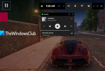 use spotify when playing game in full screen using game bar in windows 10