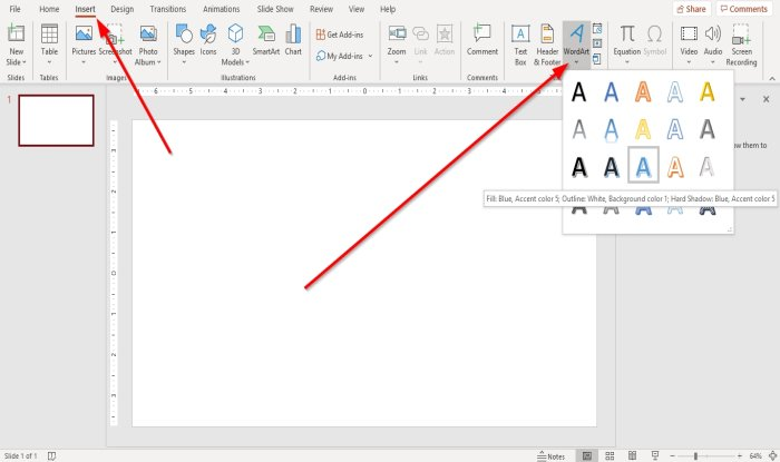 How to insert a picture along with text in PowerPoint