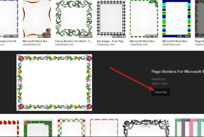 Download Page Borders for Microsoft Word
