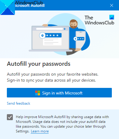 How to Setup and Use Microsoft Autofill Password Manager on Chrome